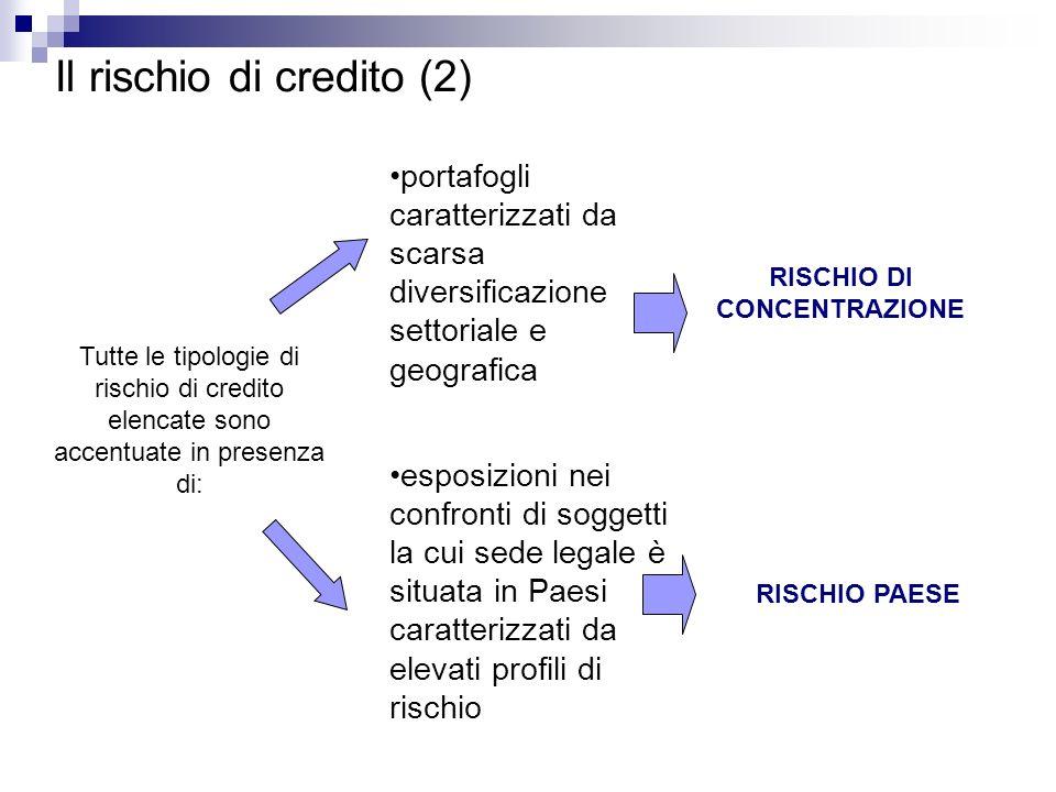RISCHIO DI CONCENTRAZIONE