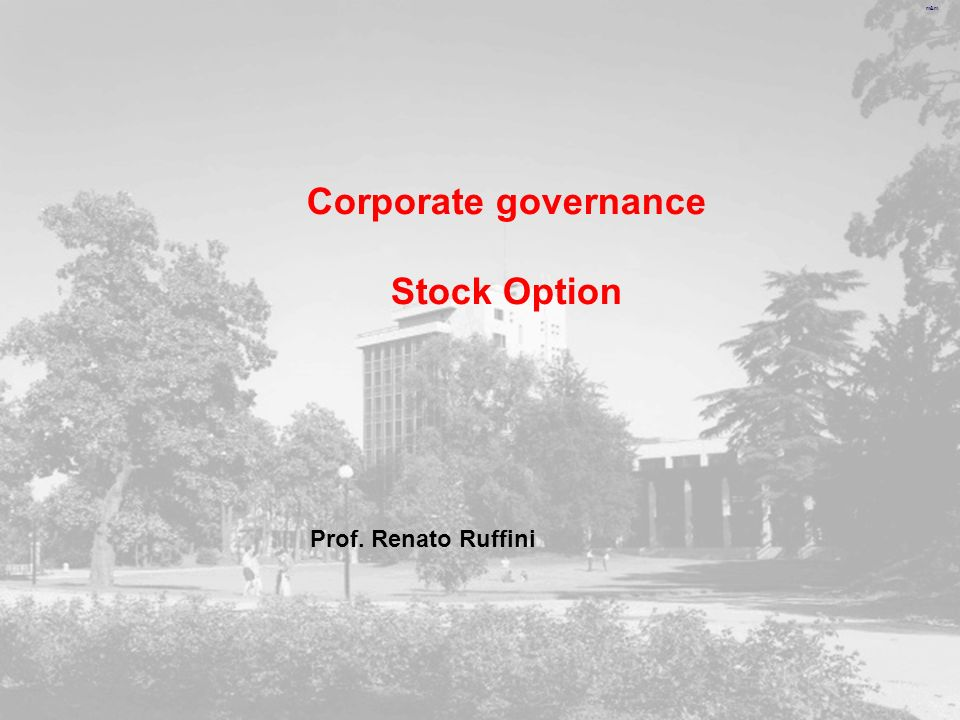 Corporate governance Stock Option