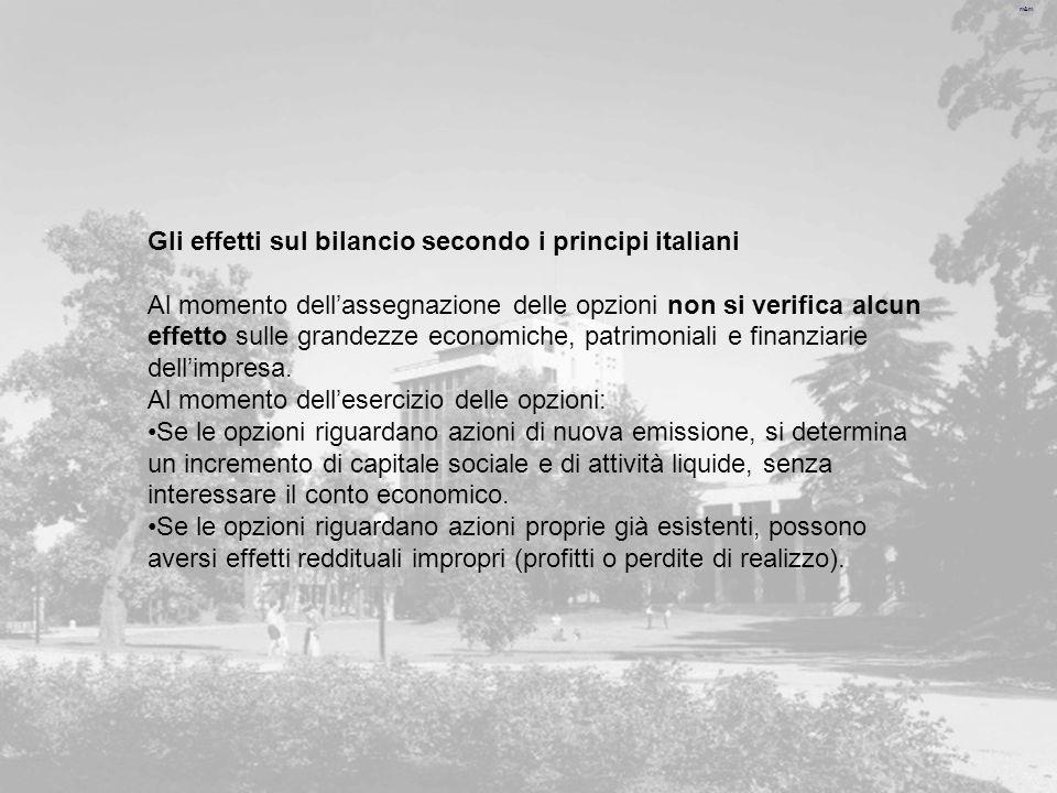 Gli effetti sul bilancio secondo i principi italiani