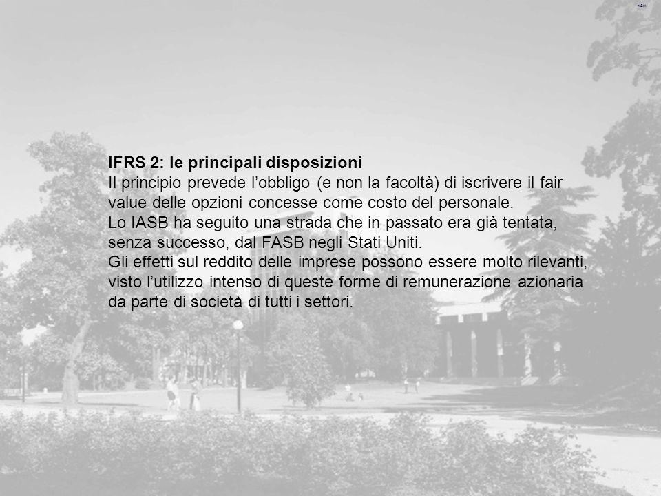 IFRS 2: le principali disposizioni
