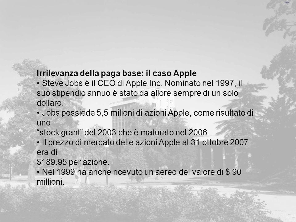 Irrilevanza della paga base: il caso Apple