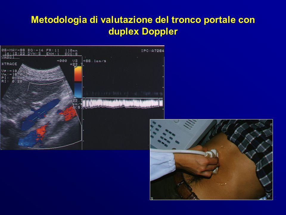 Metodologia di valutazione del tronco portale con duplex Doppler