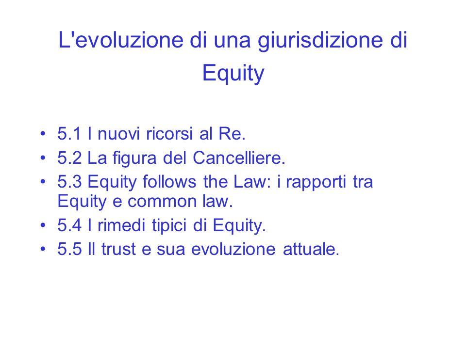 L evoluzione di una giurisdizione di Equity