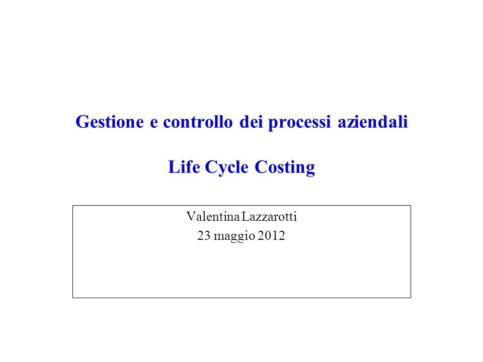 Gestione e controllo dei processi aziendali Life Cycle Costing