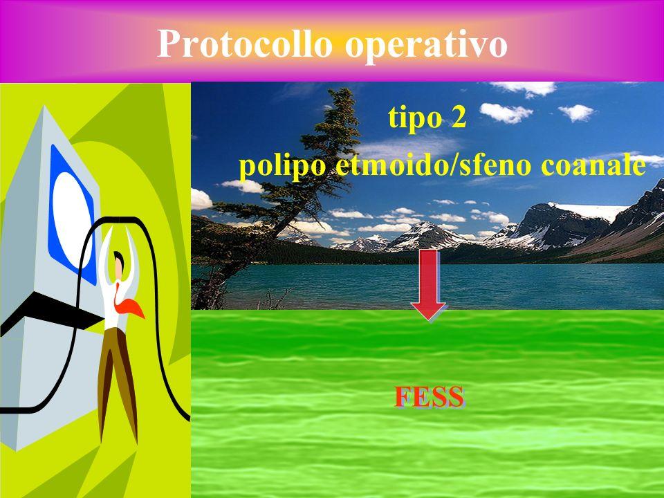 Protocollo operativo tipo 2 polipo etmoido/sfeno coanale FESS