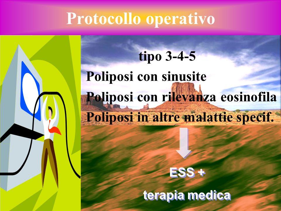 Protocollo operativo tipo 3-4-5 Poliposi con sinusite