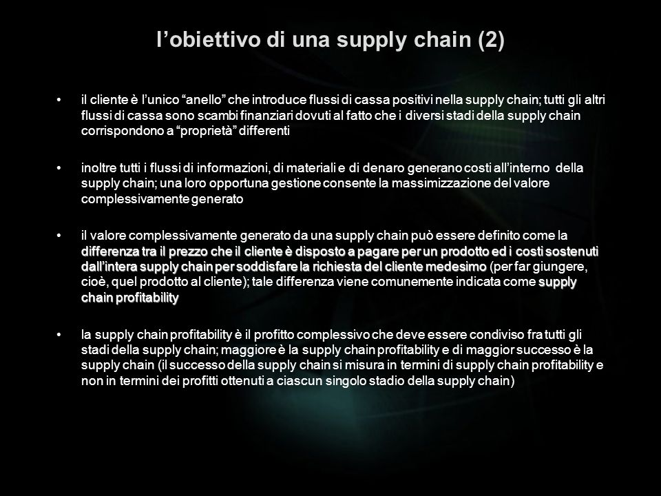 l'obiettivo di una supply chain (2)