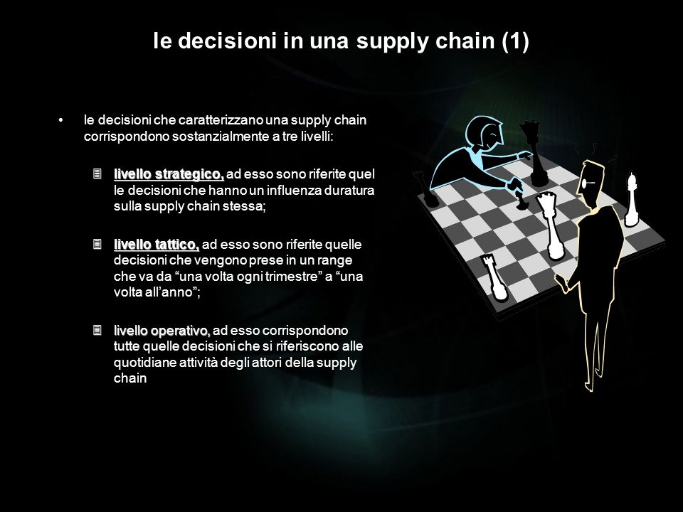 le decisioni in una supply chain (1)