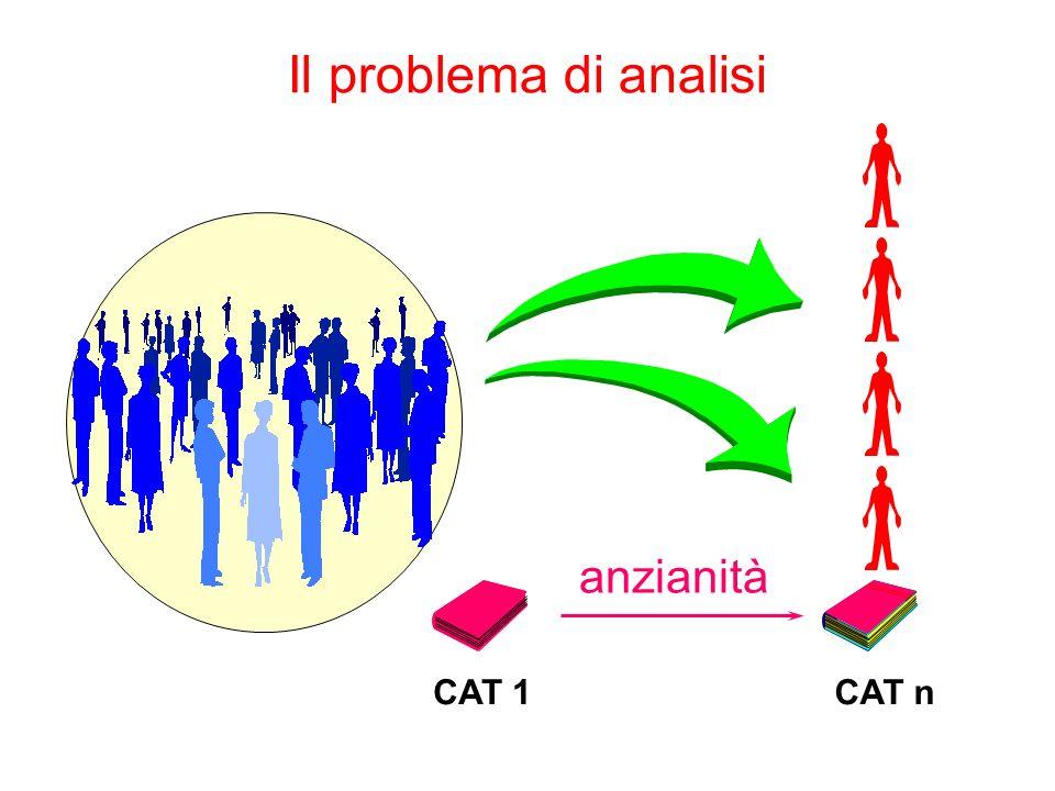 Il problema di analisi CAT 1 CAT n anzianità 1