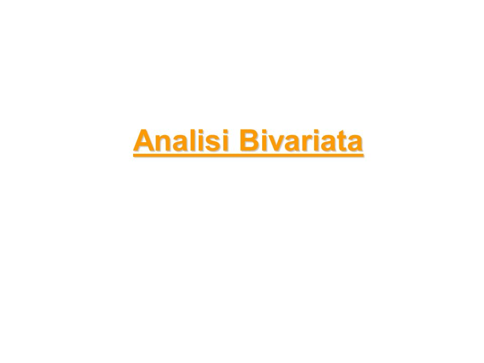 Analisi Bivariata