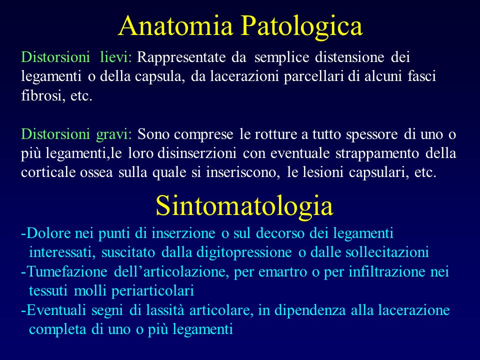 Anatomia Patologica Sintomatologia