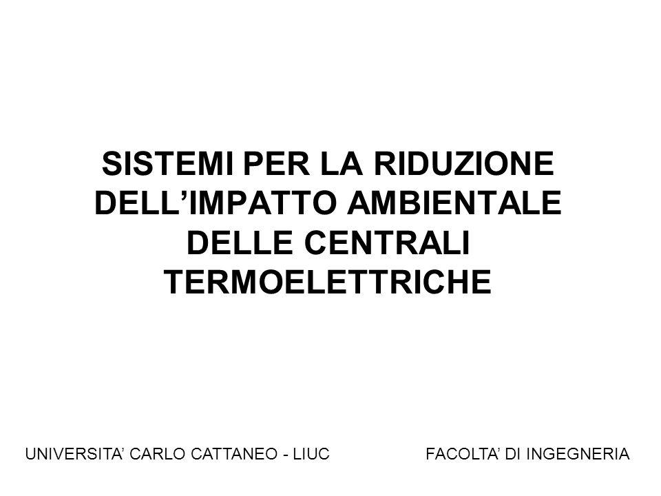 SISTEMI PER LA RIDUZIONE DELL'IMPATTO AMBIENTALE DELLE CENTRALI TERMOELETTRICHE