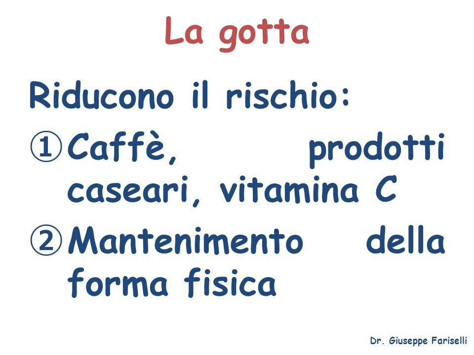Caffè, prodotti caseari, vitamina C Mantenimento della forma fisica