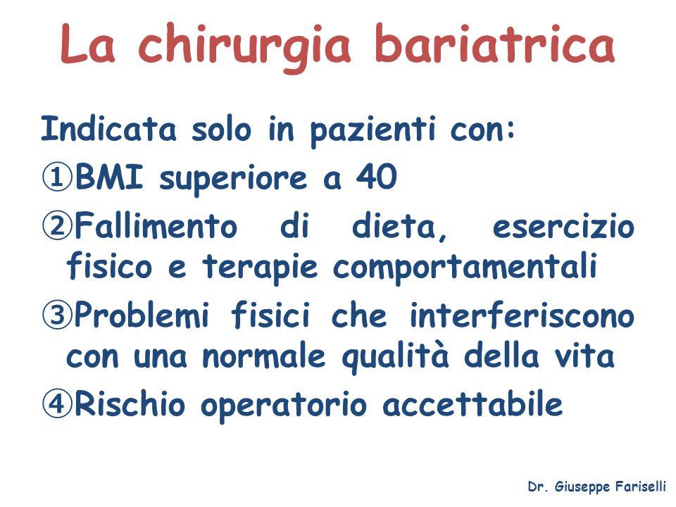 La chirurgia bariatrica