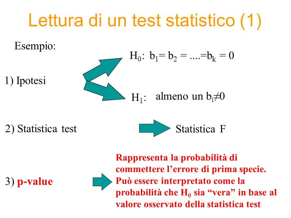 Lettura di un test statistico (1)
