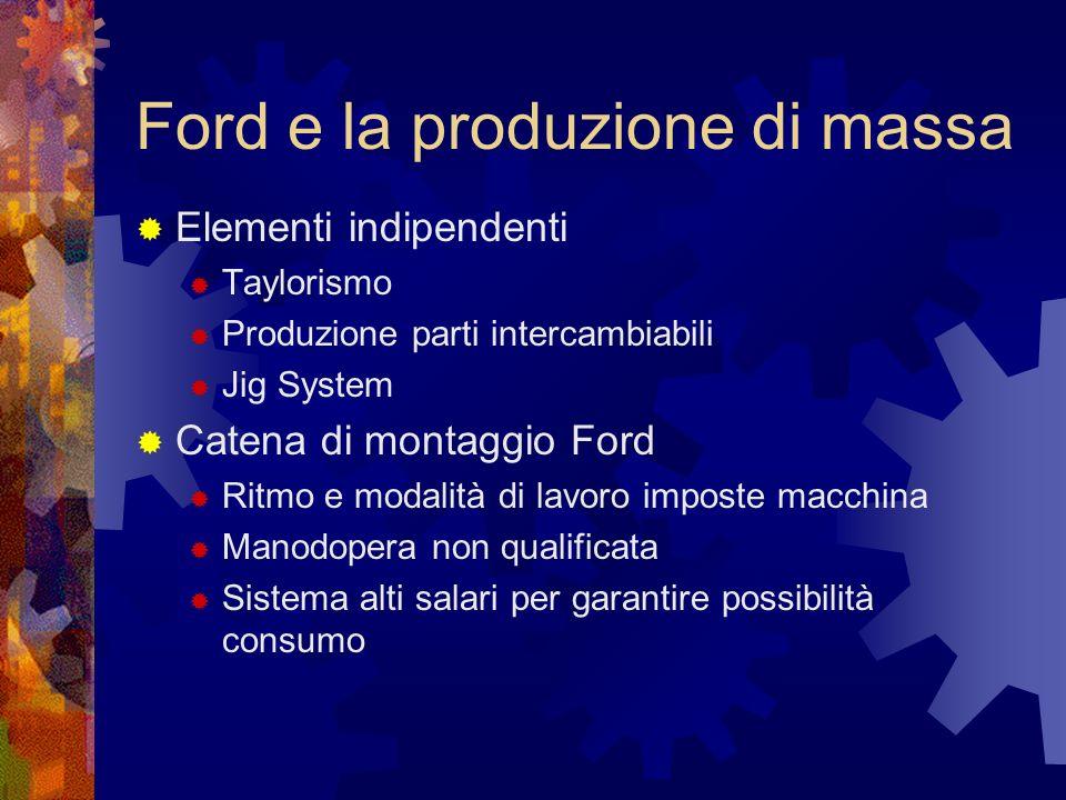Ford e la produzione di massa