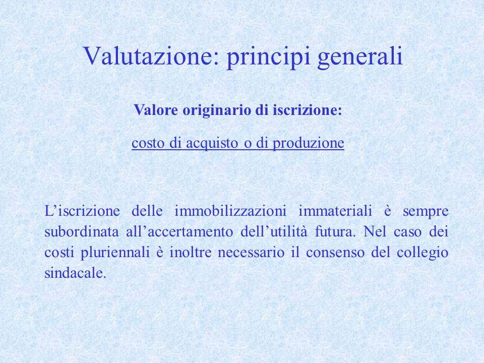 Valutazione: principi generali