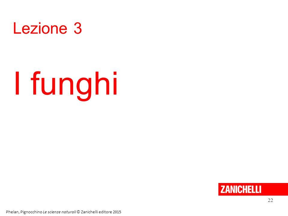 13/11/11 Lezione 3. I funghi. 22. Phelan, Pignocchino Le scienze naturali © Zanichelli editore 2015.