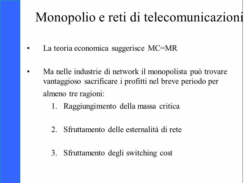 Monopolio e reti di telecomunicazioni
