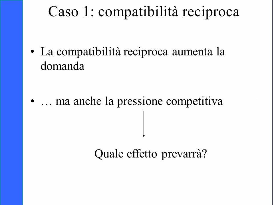 Caso 1: compatibilità reciproca