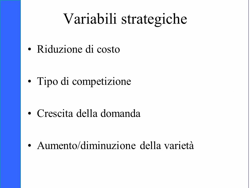 Variabili strategiche