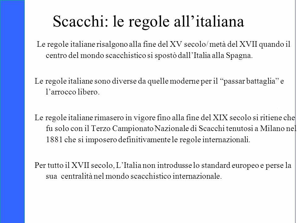 Scacchi: le regole all'italiana