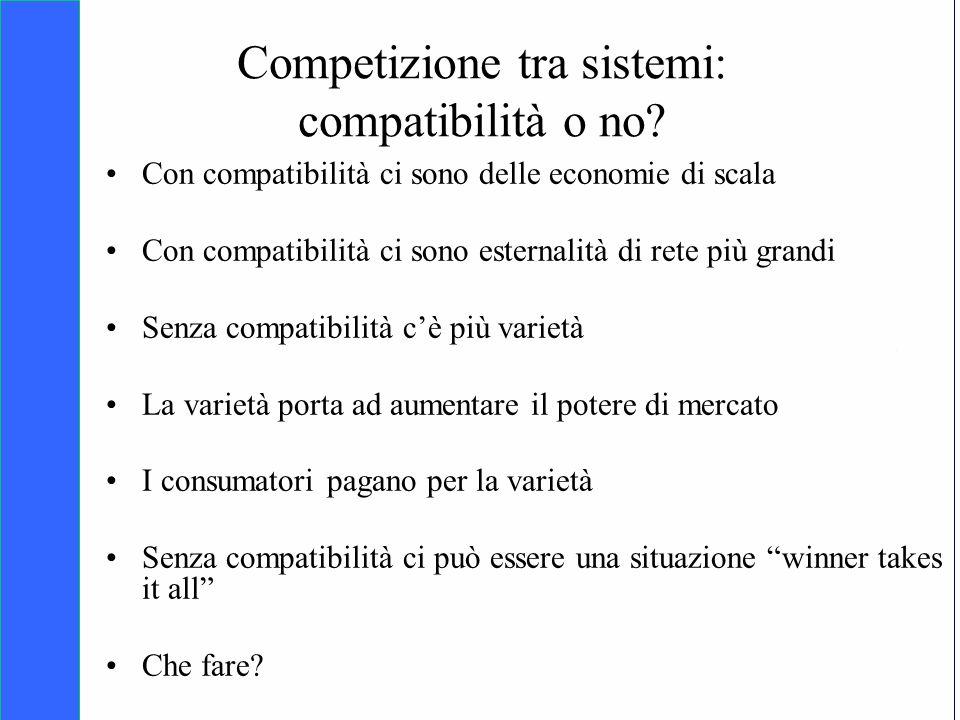 Competizione tra sistemi: compatibilità o no