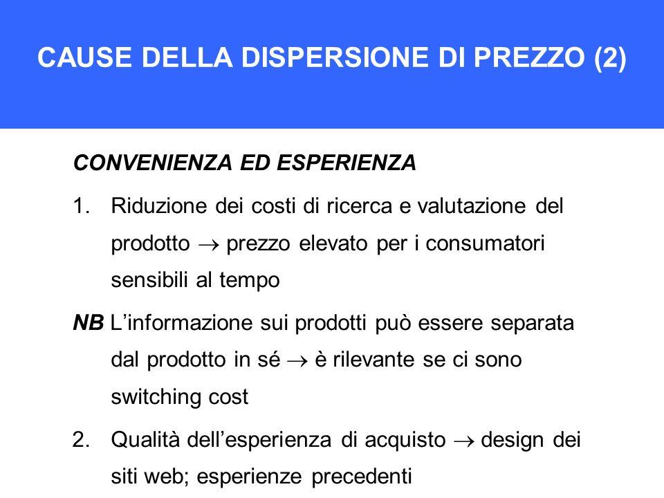 CAUSE DELLA DISPERSIONE DI PREZZO (2)