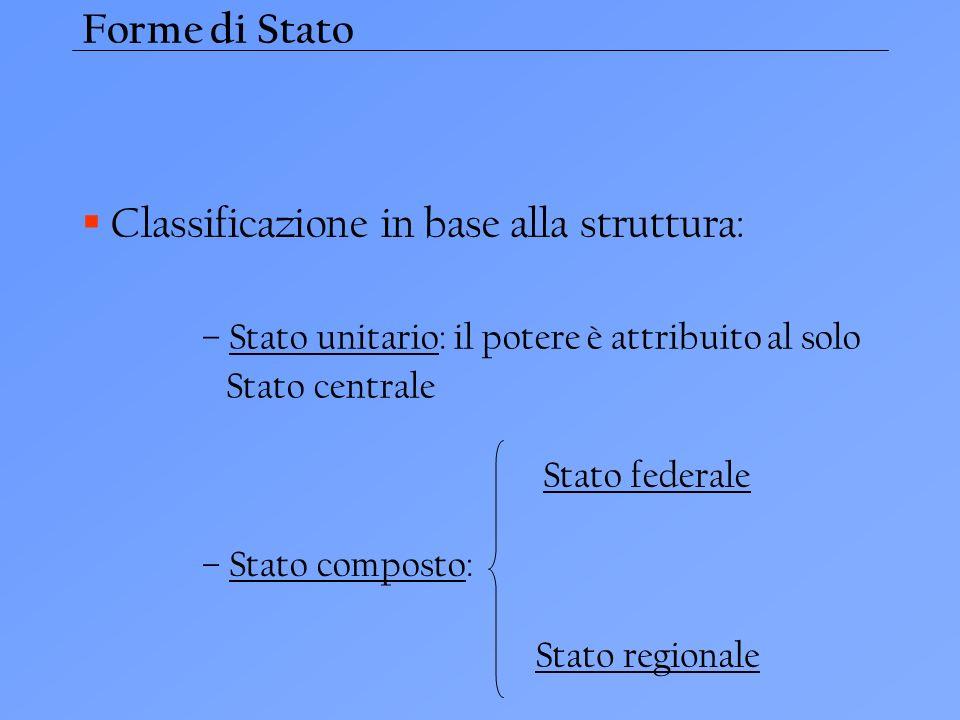 Classificazione in base alla struttura: