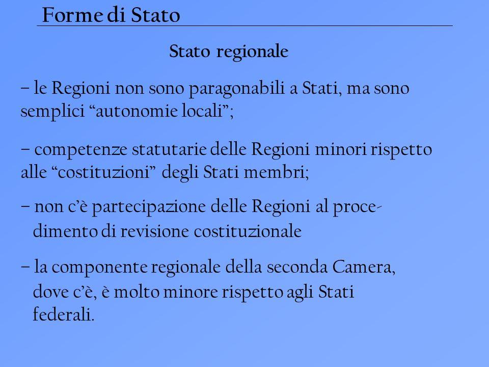 Forme di Stato Stato regionale