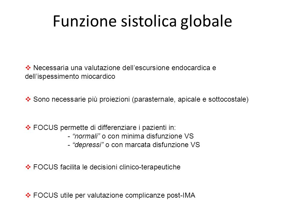 Funzione sistolica globale