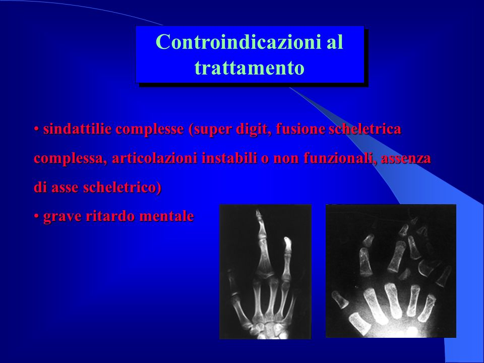 Controindicazioni al trattamento