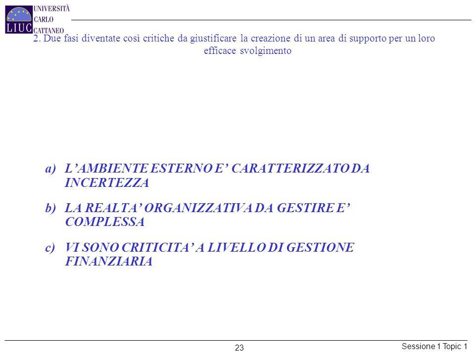 LA CRITICITA' DELLE ATTIVITA' DI P&C E' TANTO MAGGIORE QUANTO PIU':