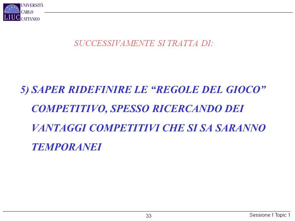 SUCCESSIVAMENTE SI TRATTA DI: