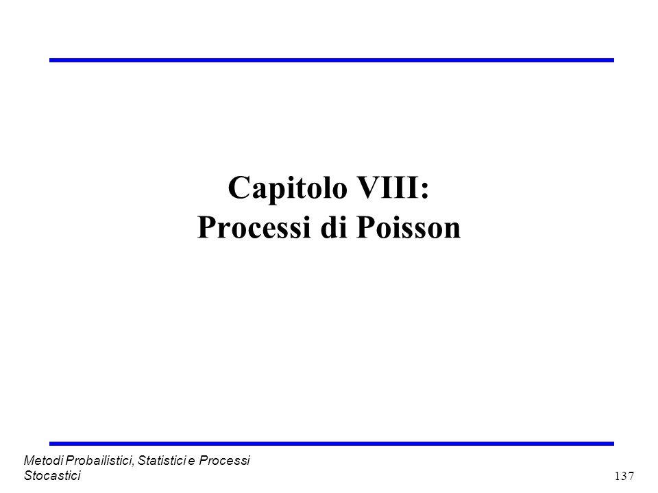 Capitolo VIII: Processi di Poisson