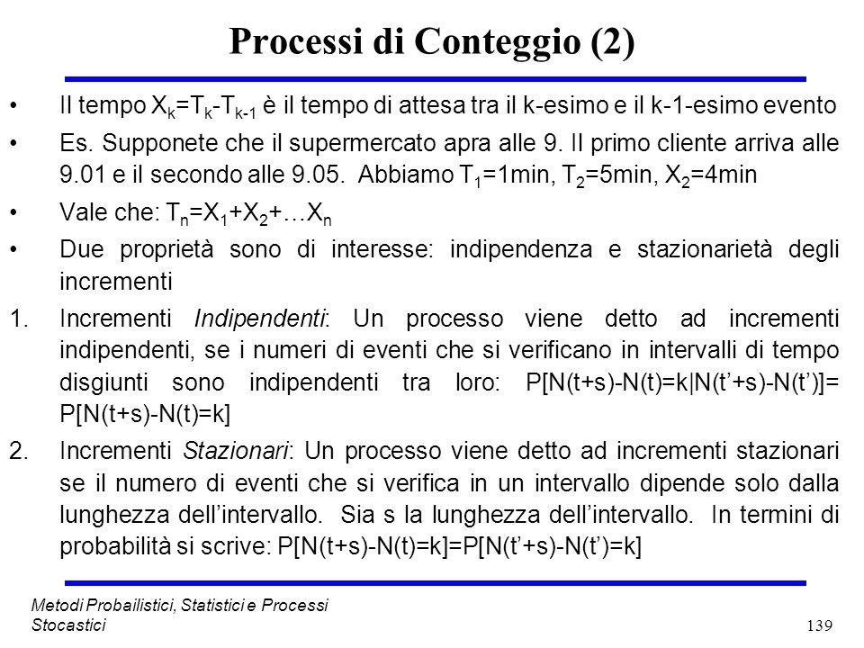 Processi di Conteggio (2)