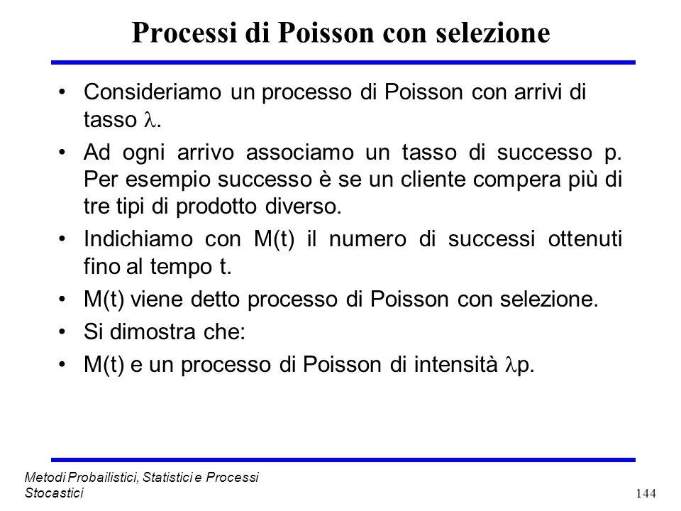 Processi di Poisson con selezione