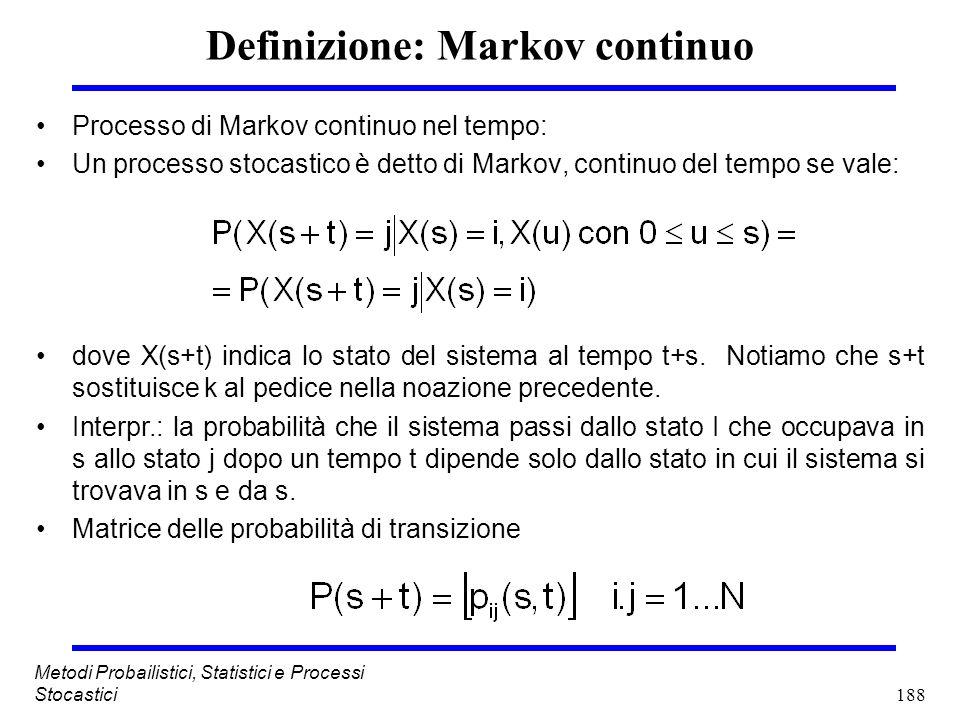 Definizione: Markov continuo