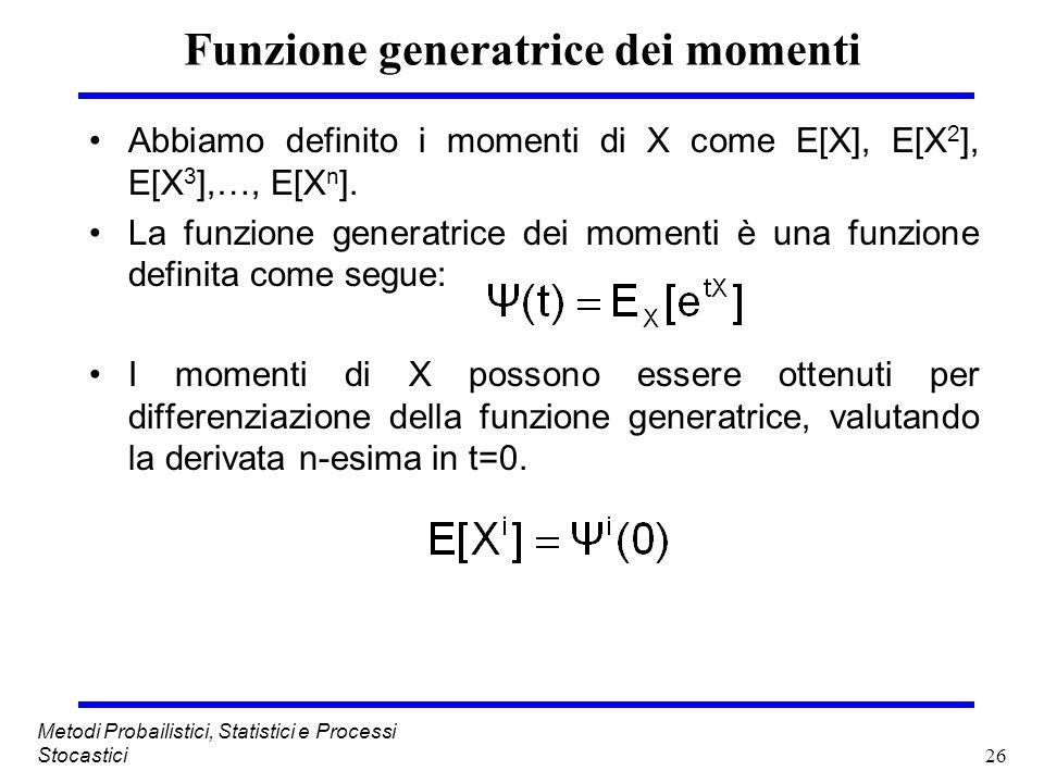 Funzione generatrice dei momenti