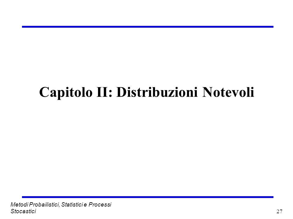 Capitolo II: Distribuzioni Notevoli