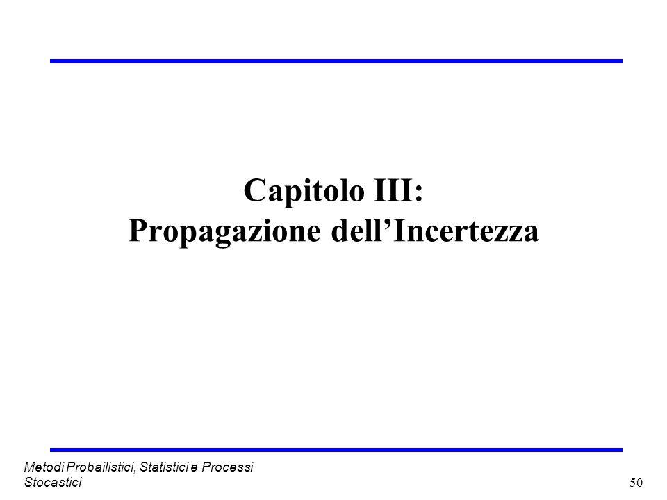 Capitolo III: Propagazione dell'Incertezza