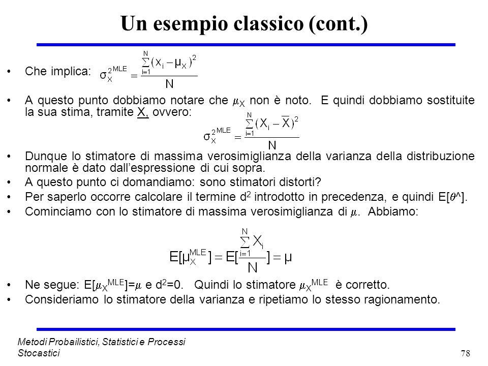 Un esempio classico (cont.)