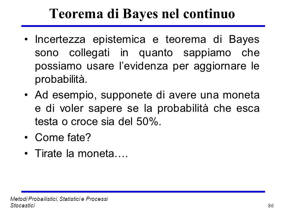 Teorema di Bayes nel continuo