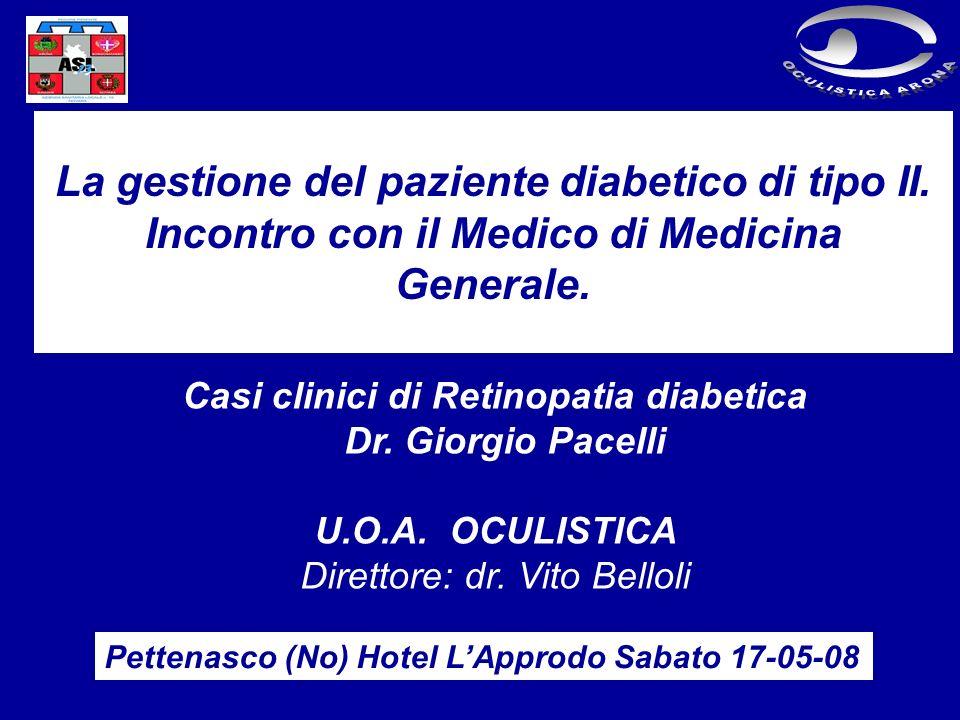 Casi clinici di Retinopatia diabetica