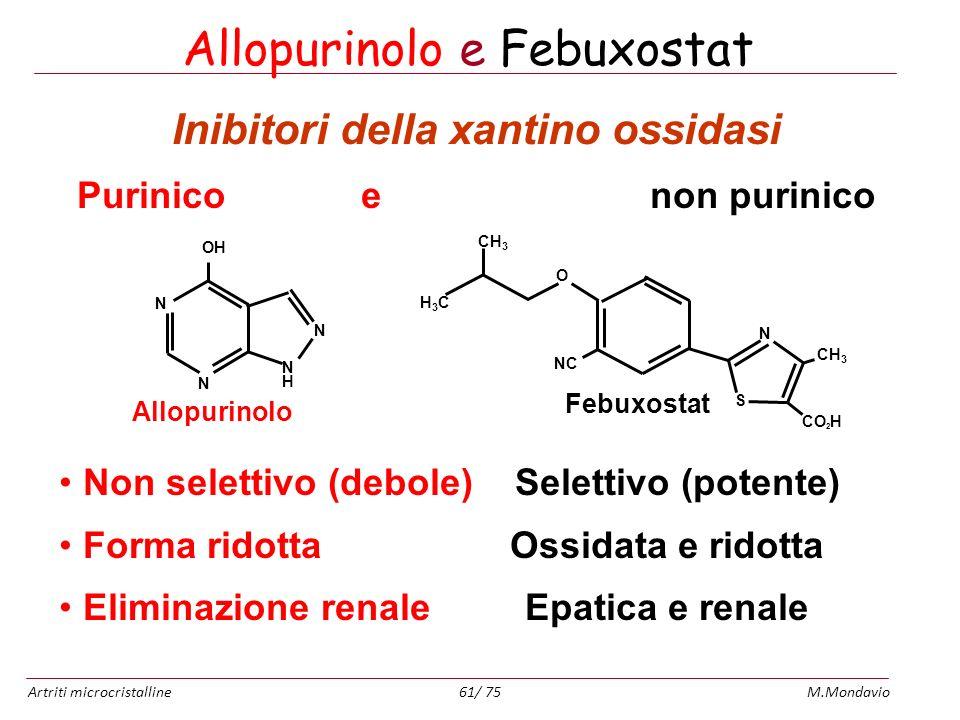 Allopurinolo e Febuxostat