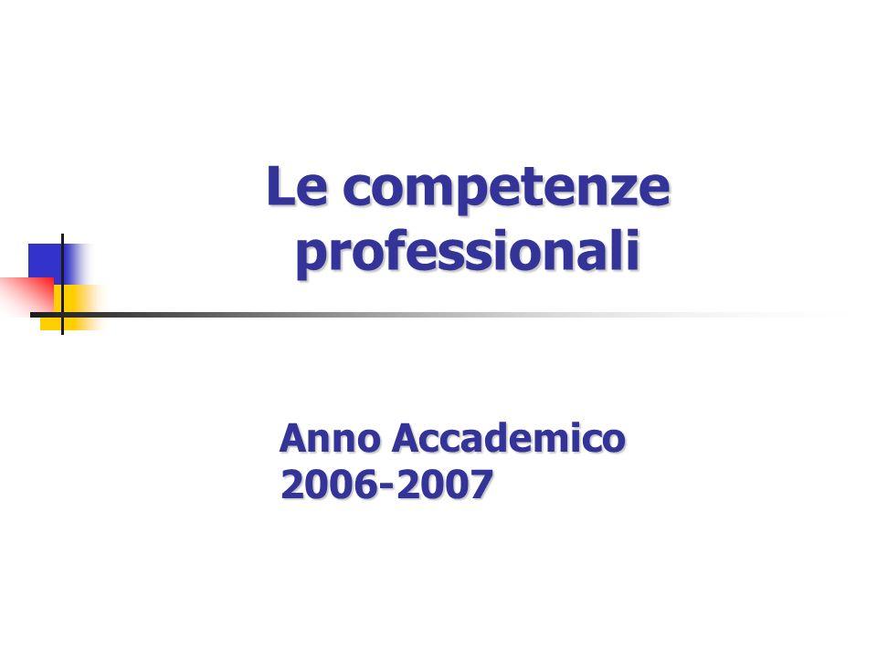 Le competenze professionali