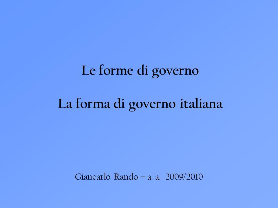 La forma di governo italiana