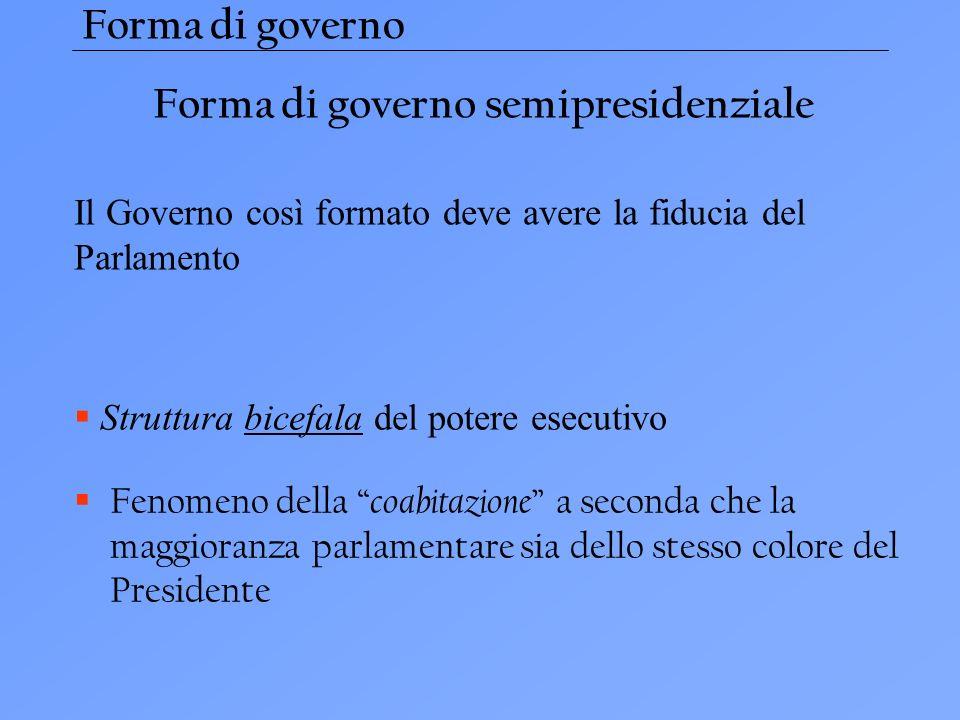 Forma di governo semipresidenziale