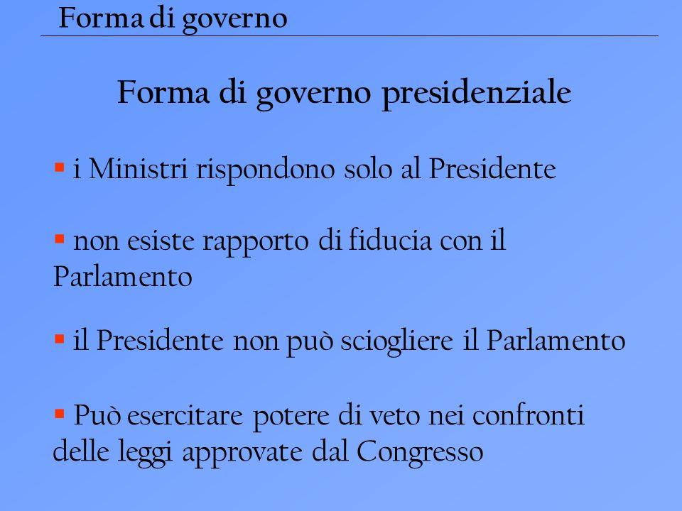 Forma di governo presidenziale
