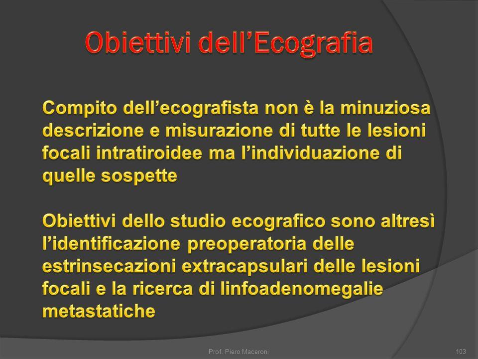 Obiettivi dell'Ecografia
